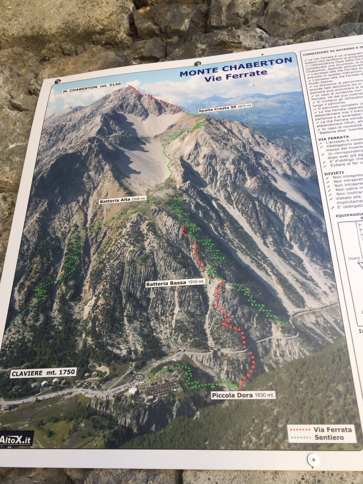 Chaberton (Monte) Vie Ferrate Batteria Bassa - Batteria Alta - Mario Perona 2019-08-04