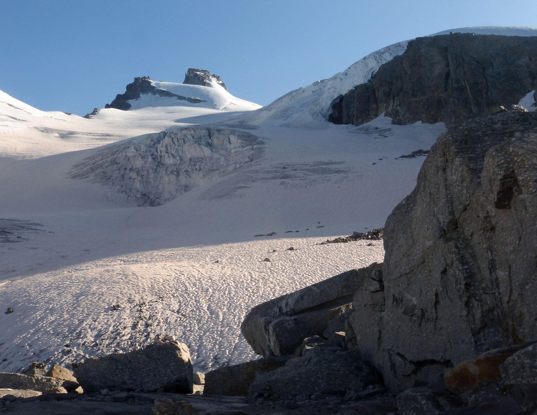 il ghiacciaio verso la Ceresole
