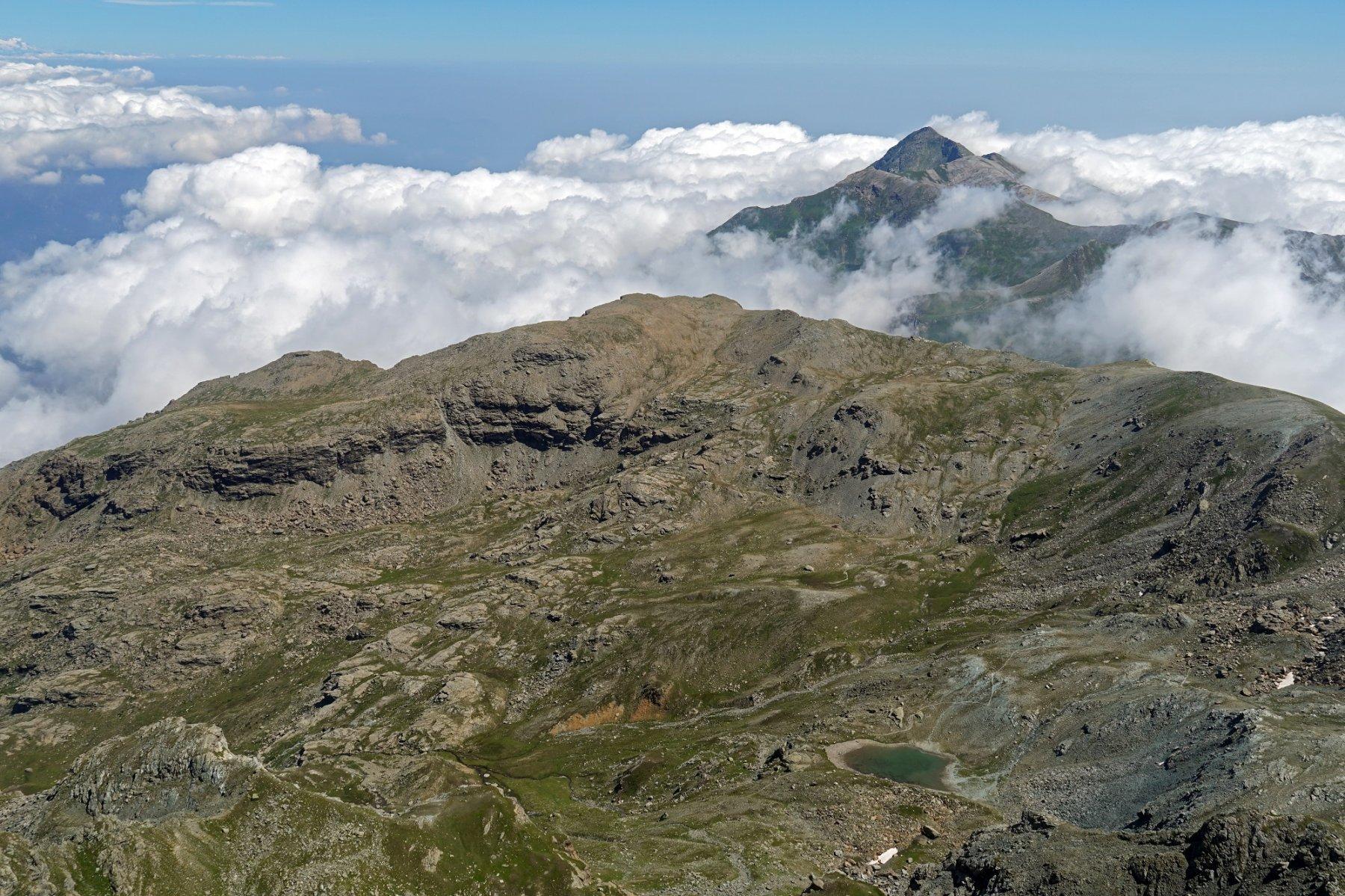 La valle del Pis e il Monte Frioland visti dalla cima