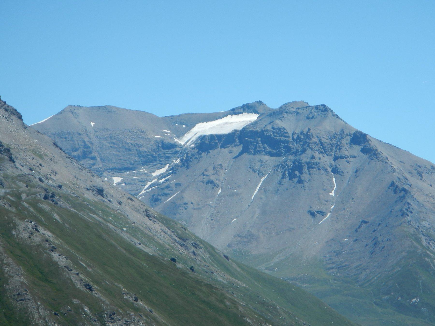 il sempre più ridotto ghiacciaio del Lamet