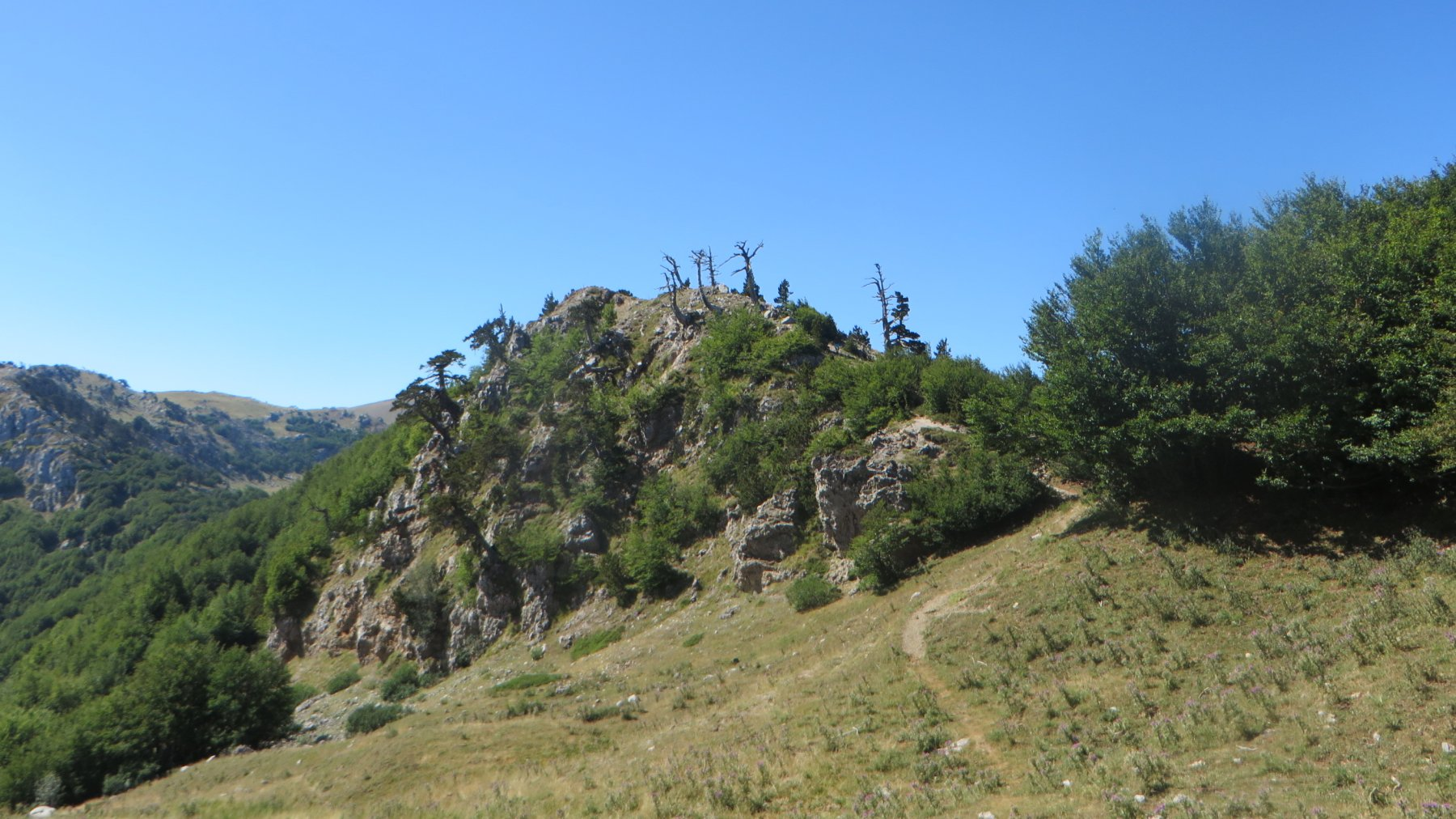 Serra delle Ciavole e Serra di Crispo dal Colle dell'Impiso 2019-08-06