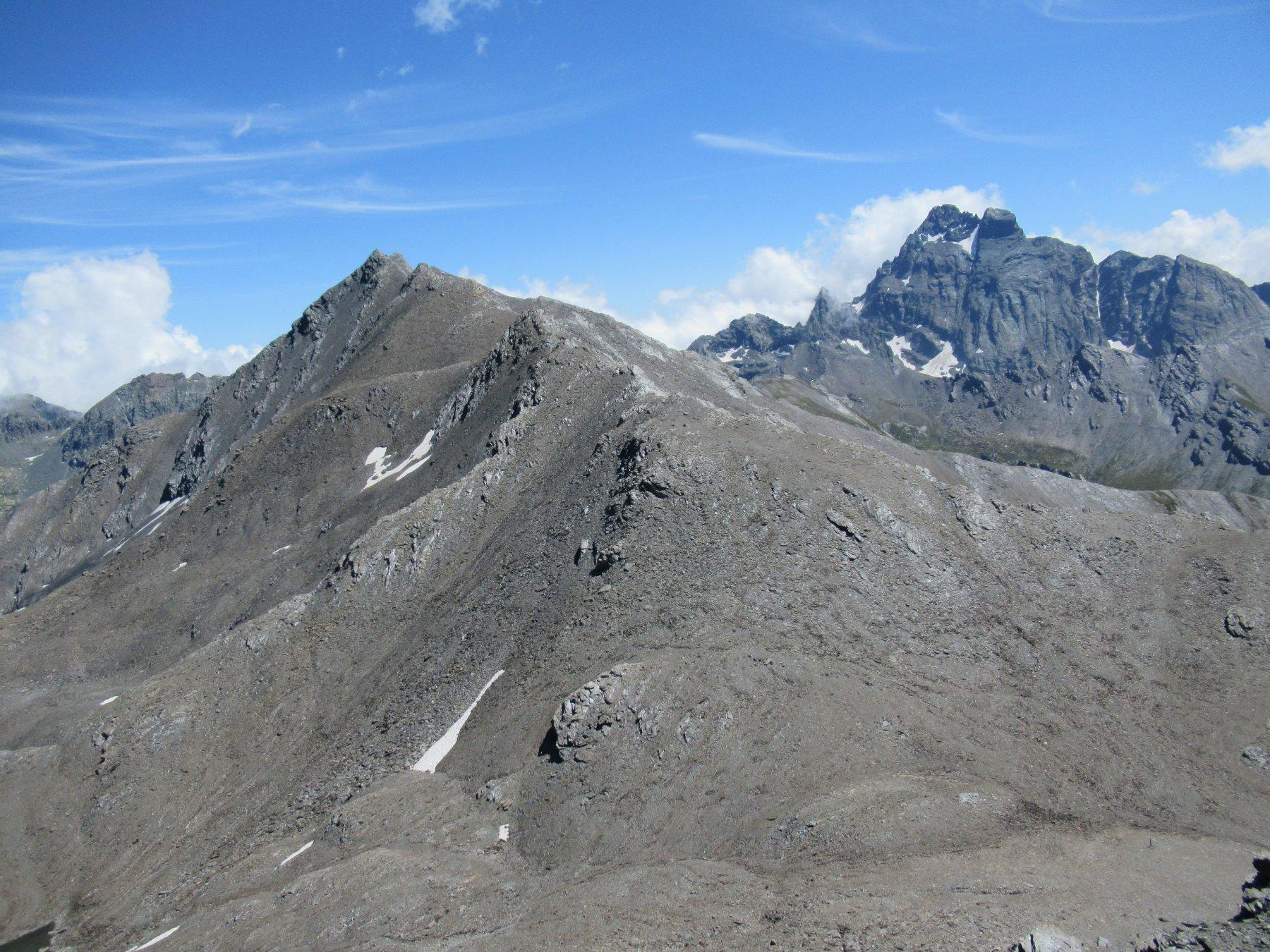 La cresta percorsa dal Pic Brusalana (m.3170).