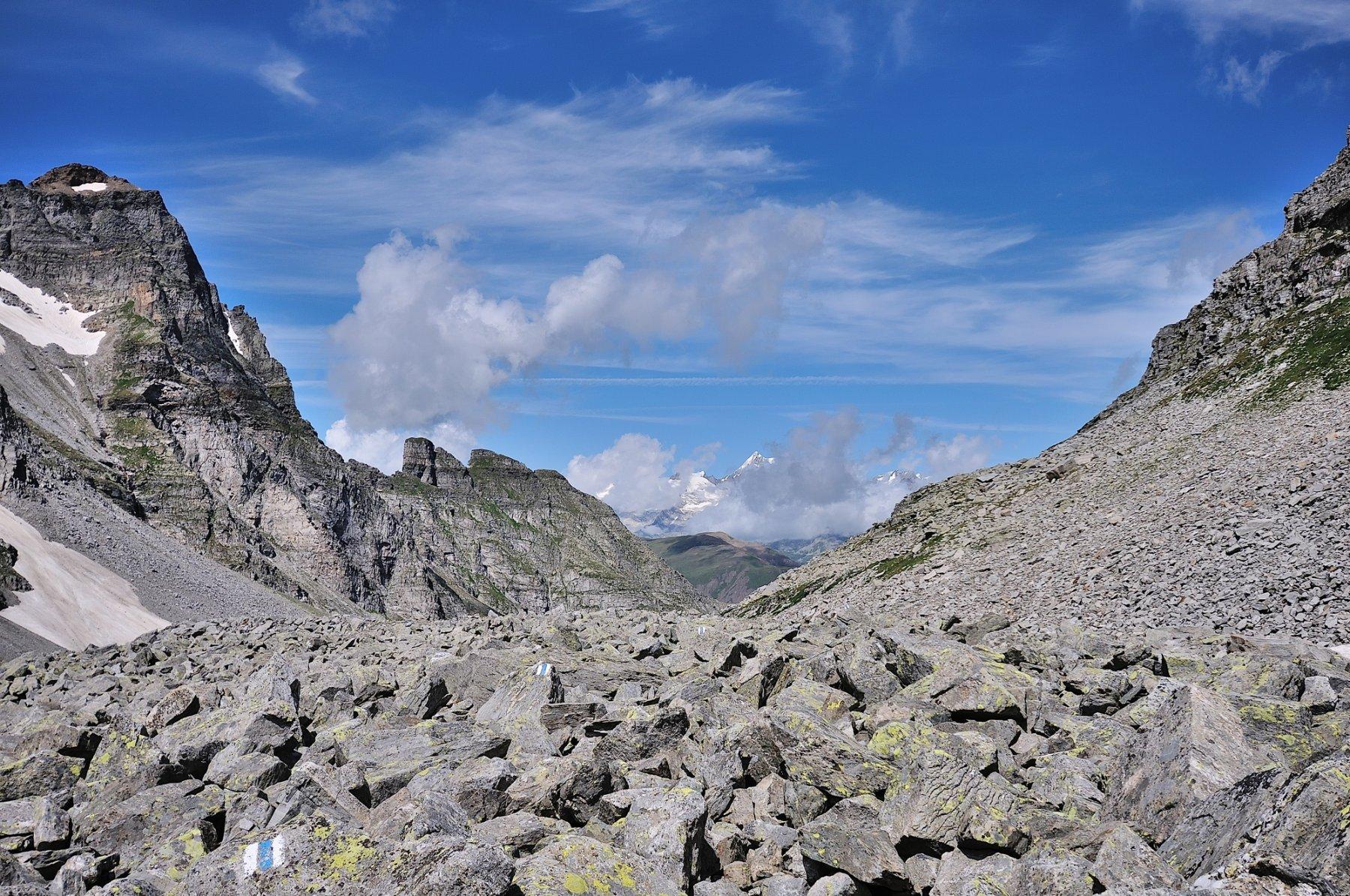Passo Cornera e vista sull'Aletschhorn