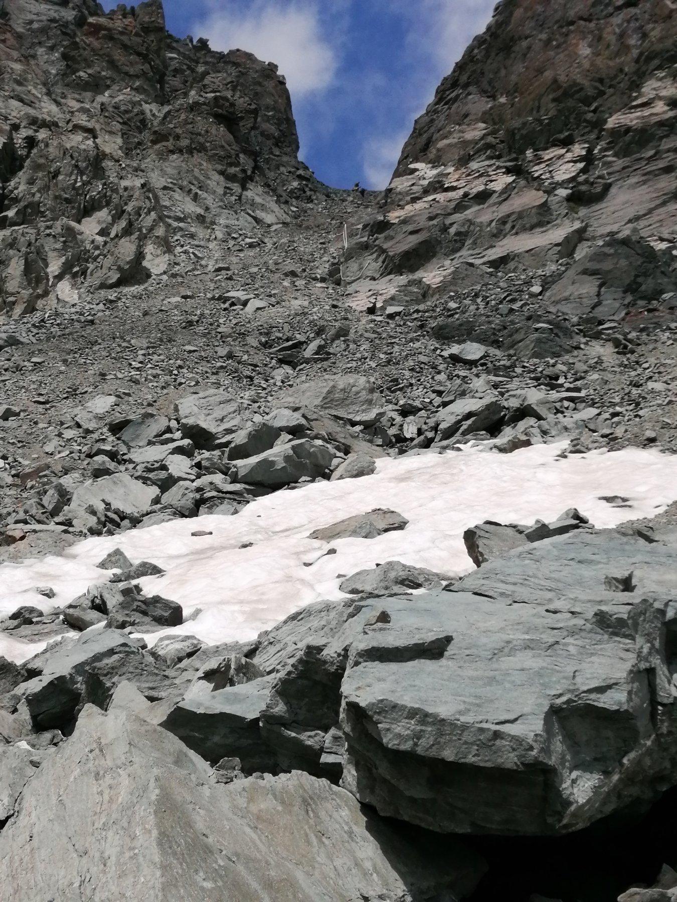 Passaggio del Collerin versante Sud
