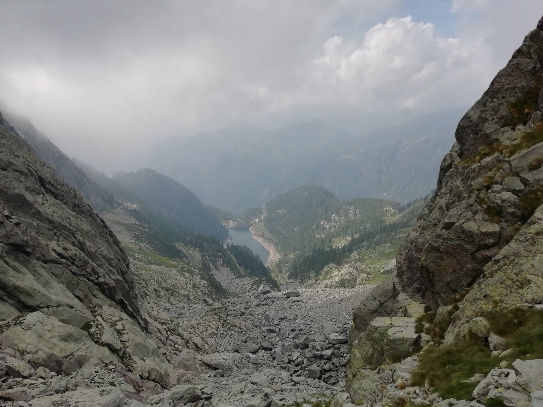 Discesa dal passo di Sardegnana