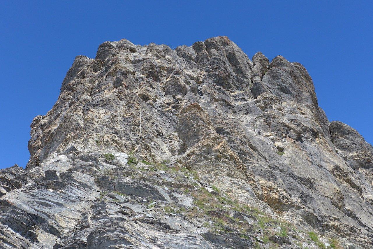 La ferrata dello spuntone roccioso di cresta quotato 2727