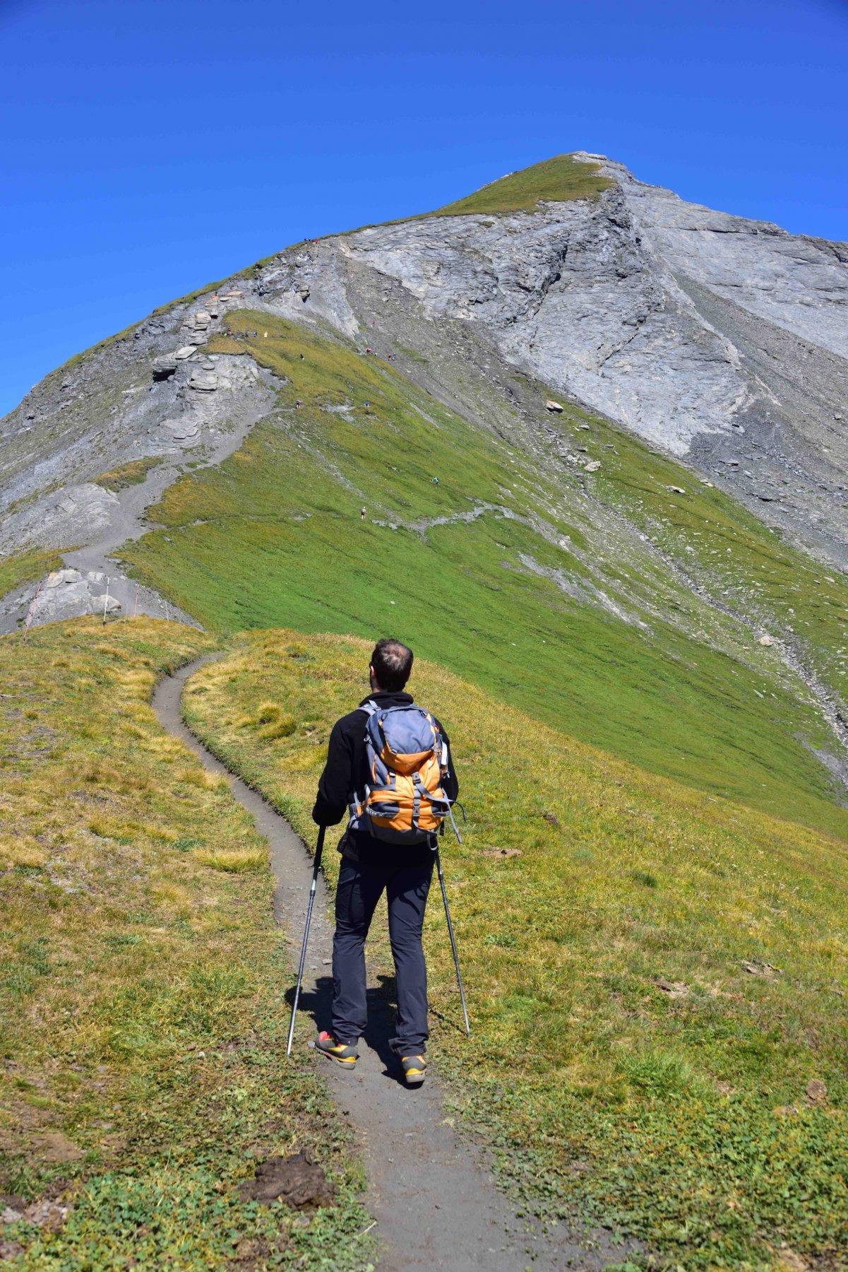 Il crestone di salita al Mont Lancebranlette