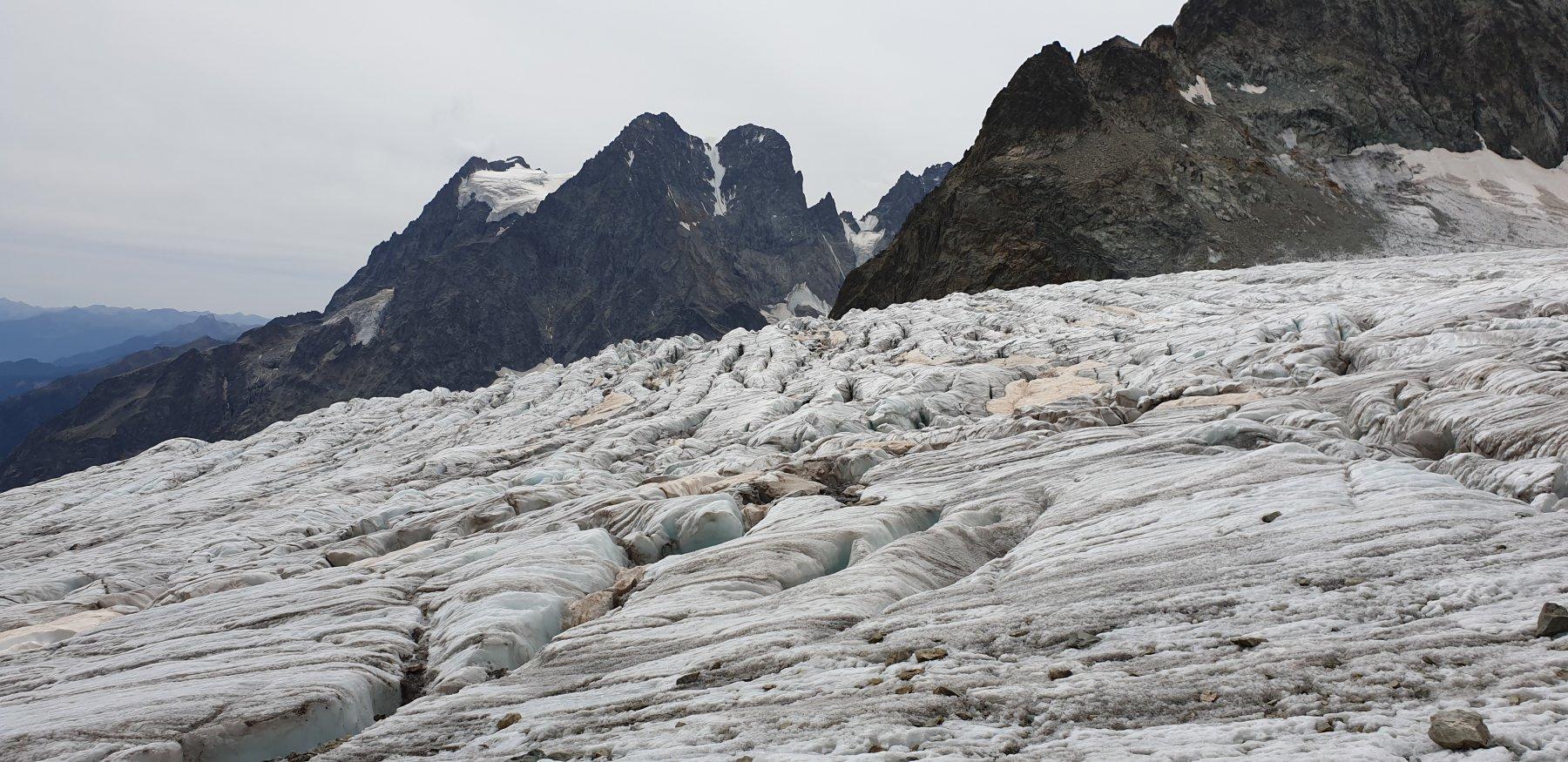 Il Glacier Blanc prima del rifugio
