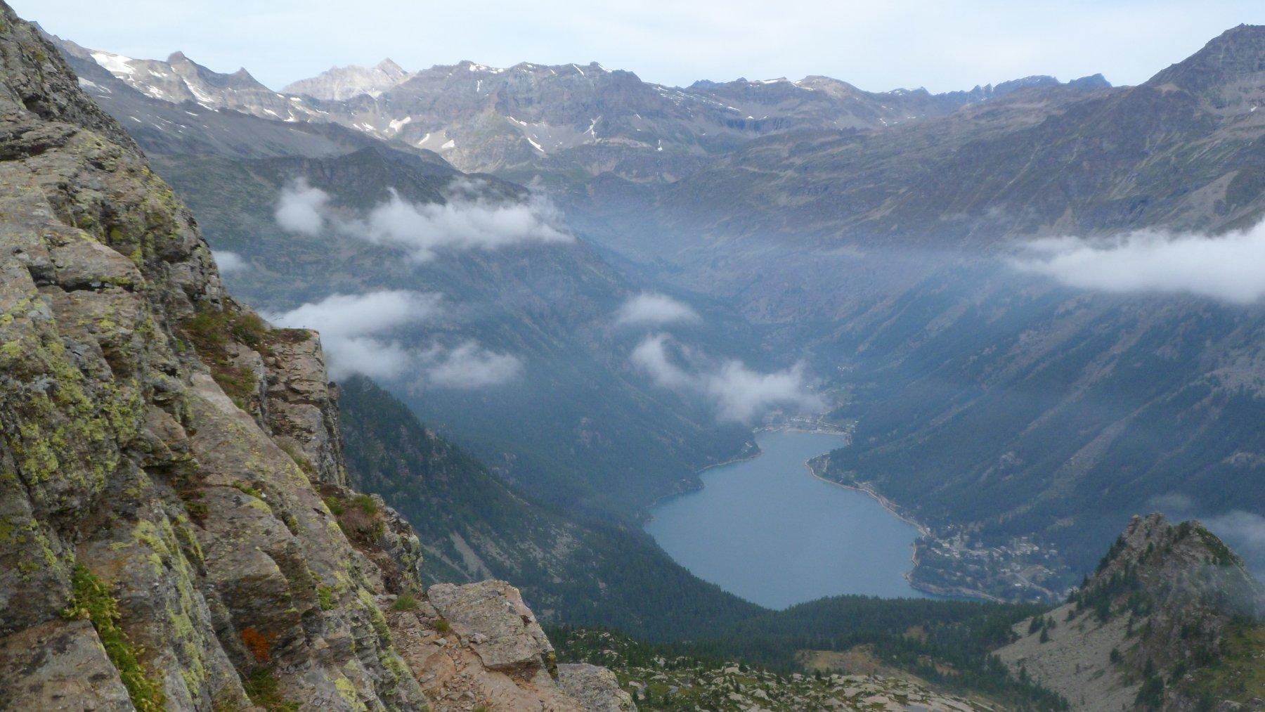 Il lago de Ceresole dal colle della Crocetta