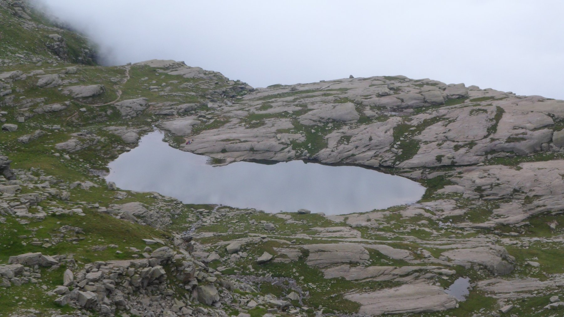 Lago di Vercellina dal colle della Crocetta