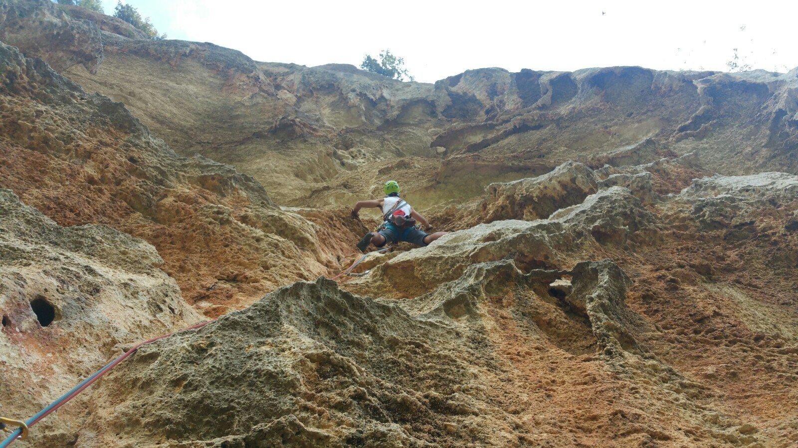 Faber su L5 nell'erosione