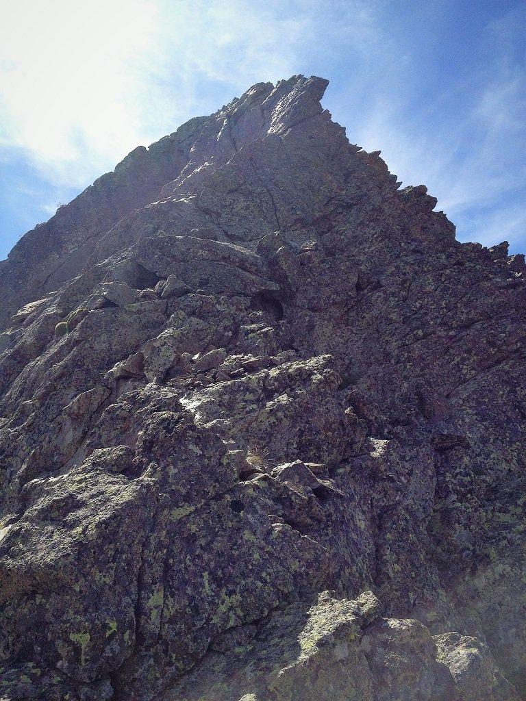 Inizio arrampicata alla cima dal Vir