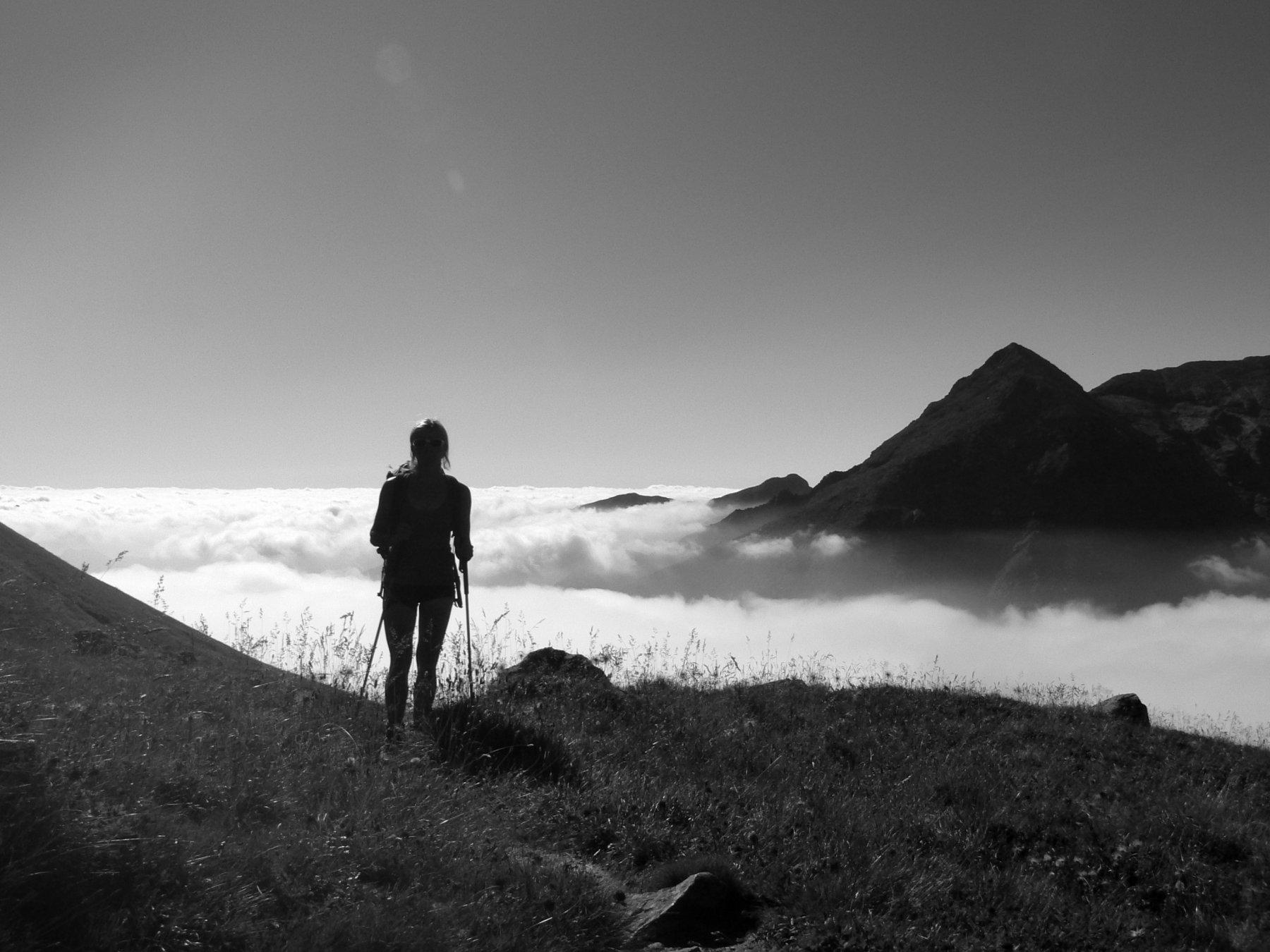 Sopra il mare di nuvole