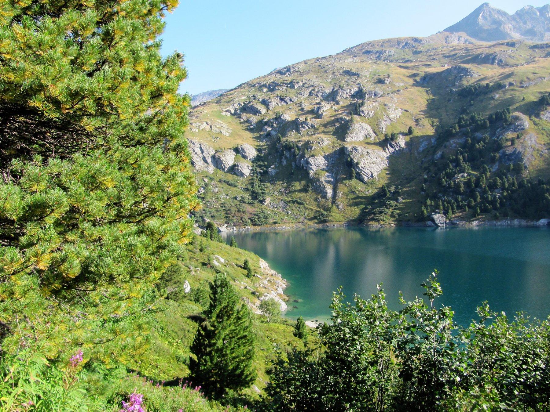 Scorcio sul lago di Plan d'Amont