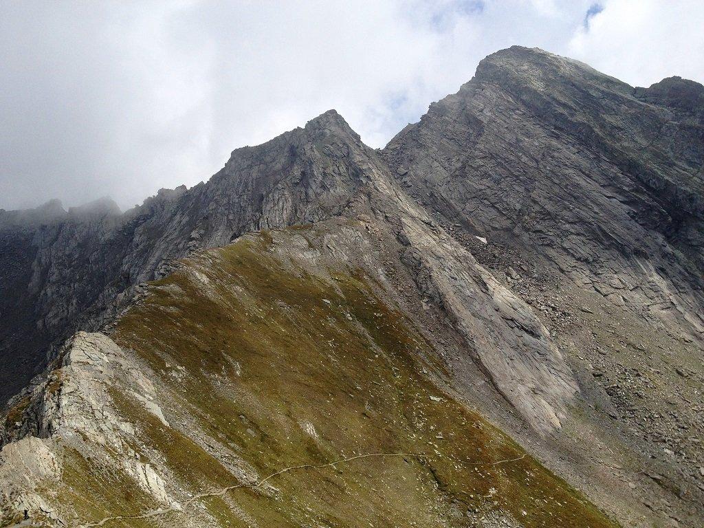 Nell'angolo a sx il colle Valpreveyre, poi la punta Fournas sotto la punta il colle Passetta e la cresta nord del Bric Bucie