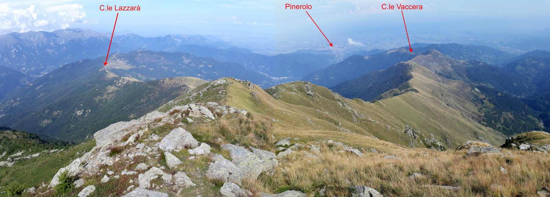 panorama sulla pianura Pinerolese