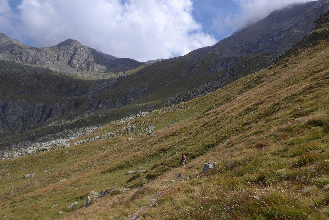 Il vallone verso il col dell'Autaret