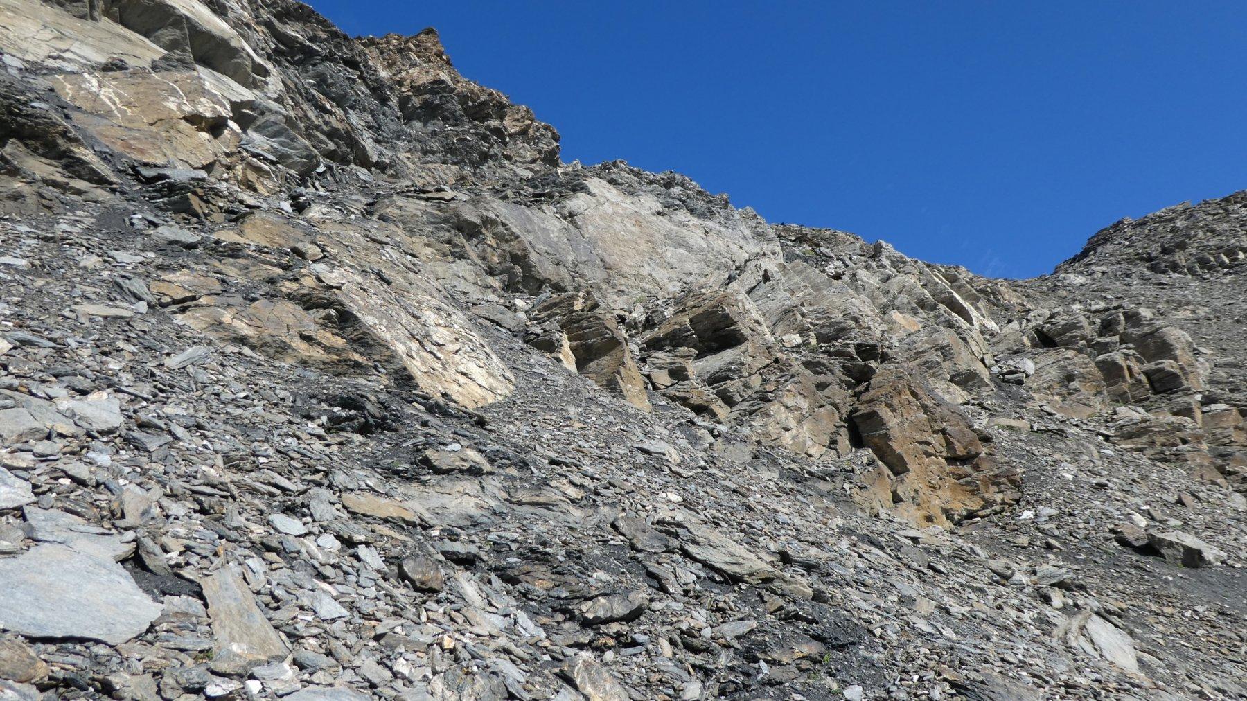 le roccette finali che portano al Col de Calabourdane
