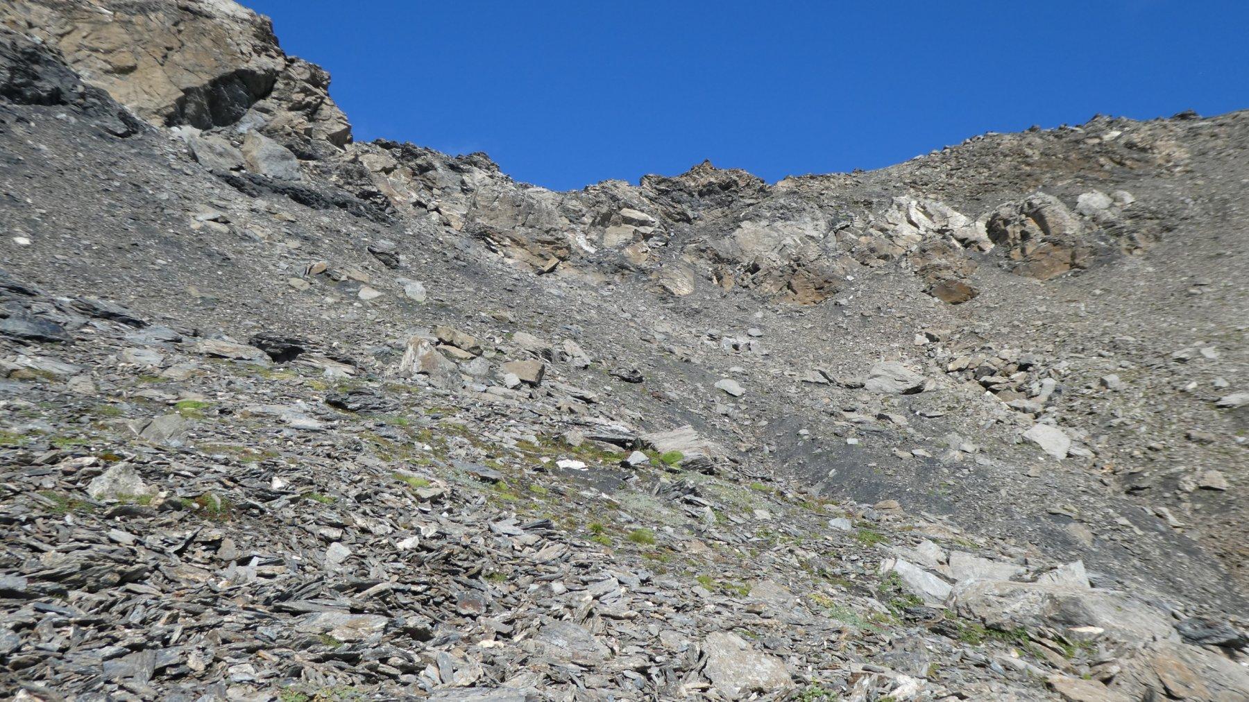 pendio finale che porta al Col de Calabourdane