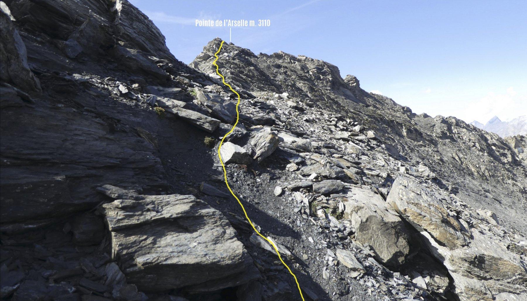 percorso finale verso la cima