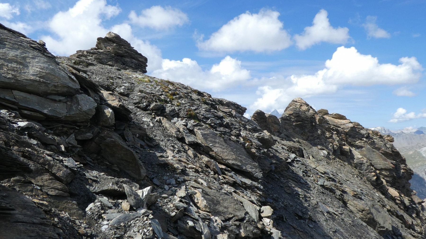 ultimi metri prima di raggiungere la cima