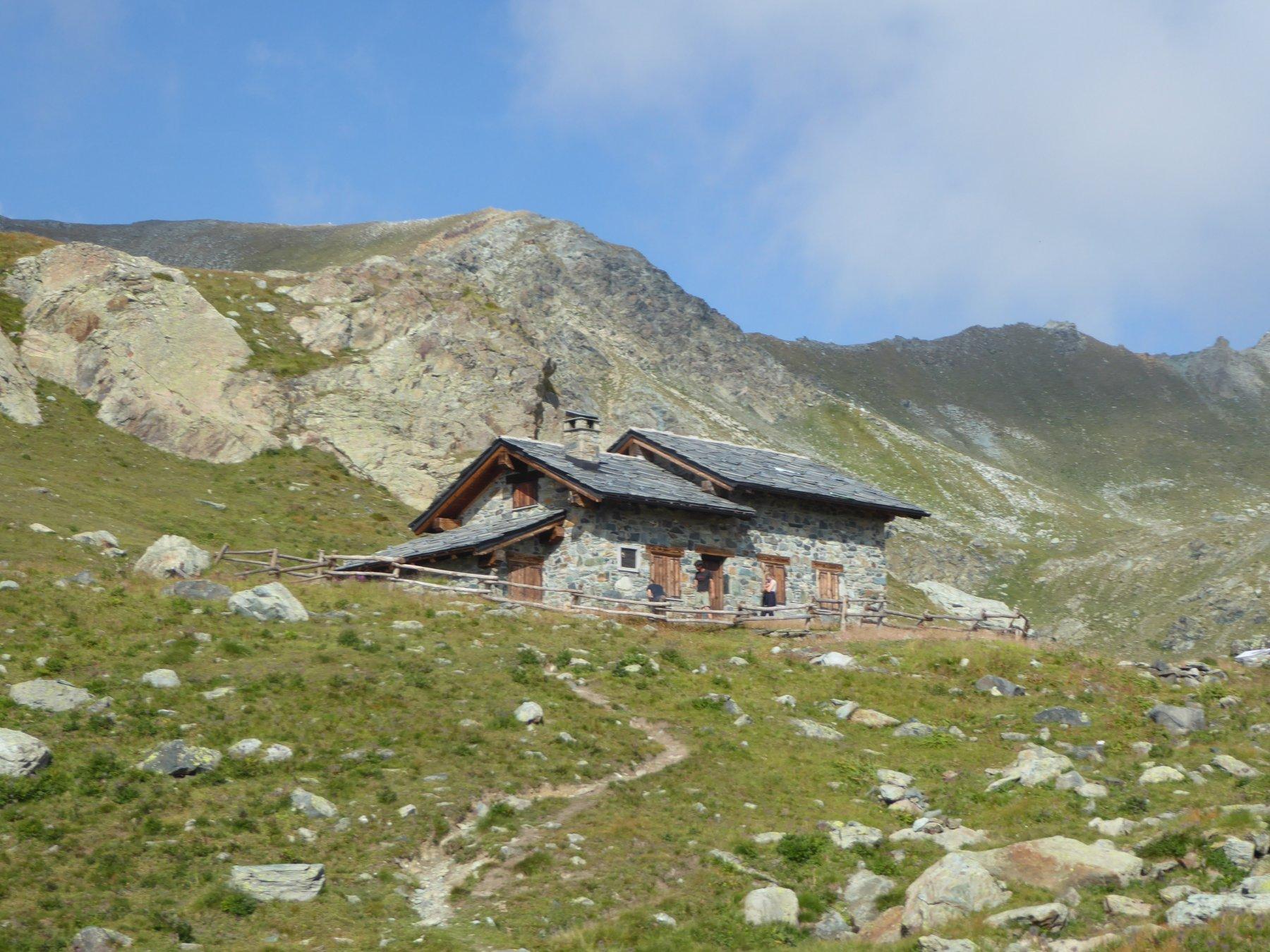 il casotto Verthuy a 2530 metri
