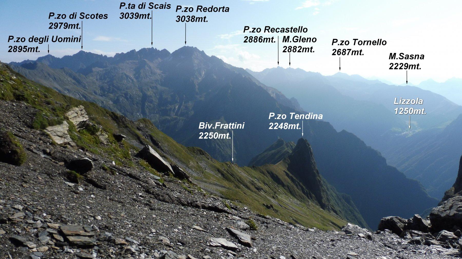 Panorama dal P.so di Valsecca versante Seriano.
