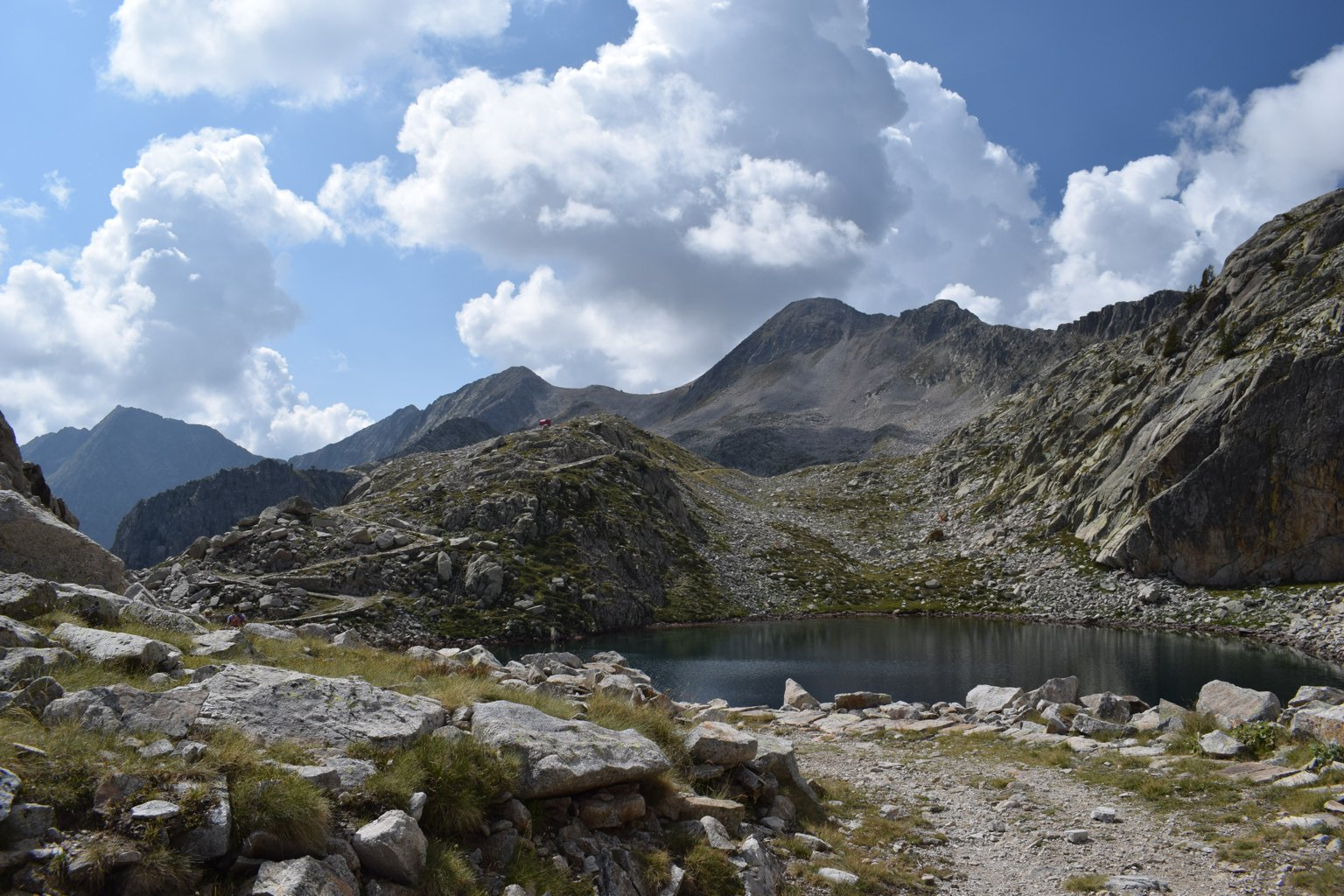 La meta vista dal lago mediano di Fremamorta