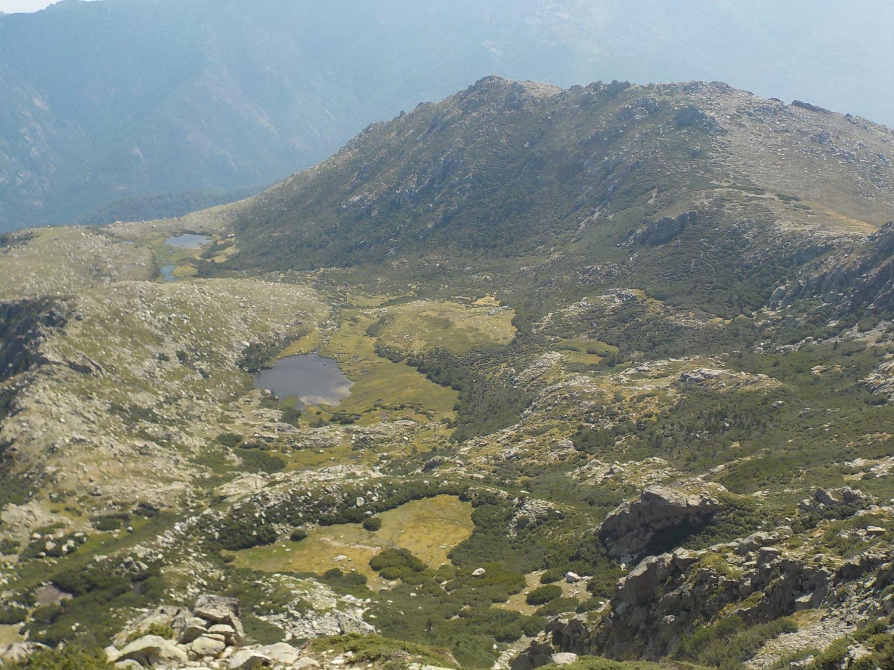 Laghi di Rina e a dx Punta Cappella e Col de Pruno