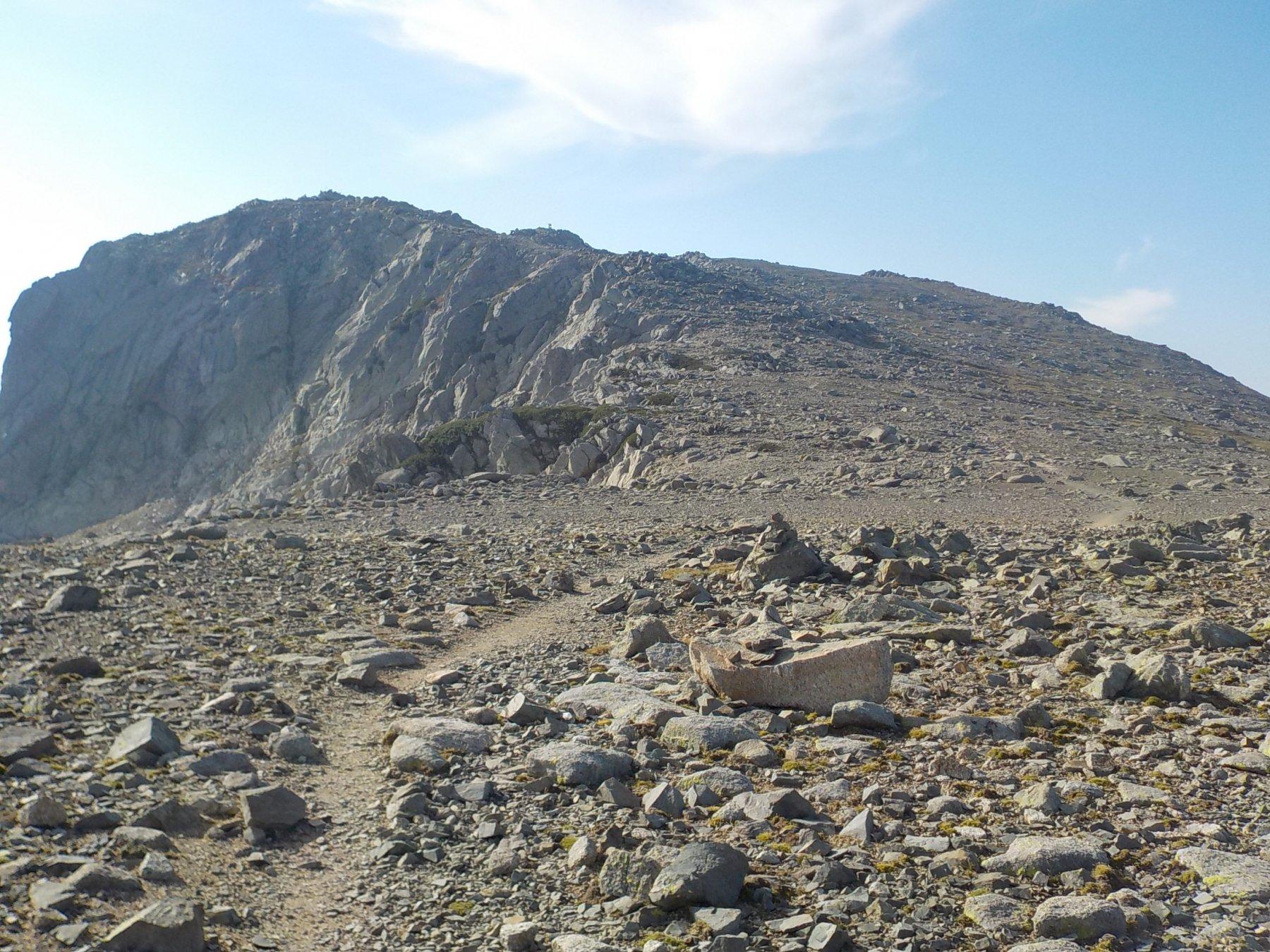Il Renoso, visto dal Bacinello appuna sbucati in crestA