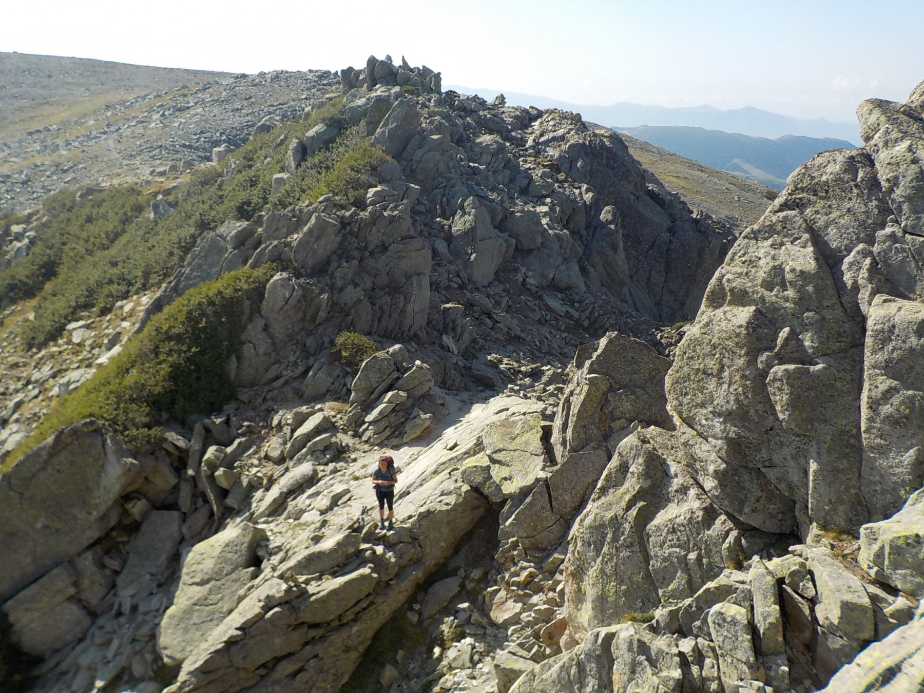 Breve passaggio roccioso dopo Punta di Valle Lunga