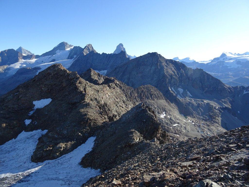 La cresta da percorrere dopo Punta Fontanella