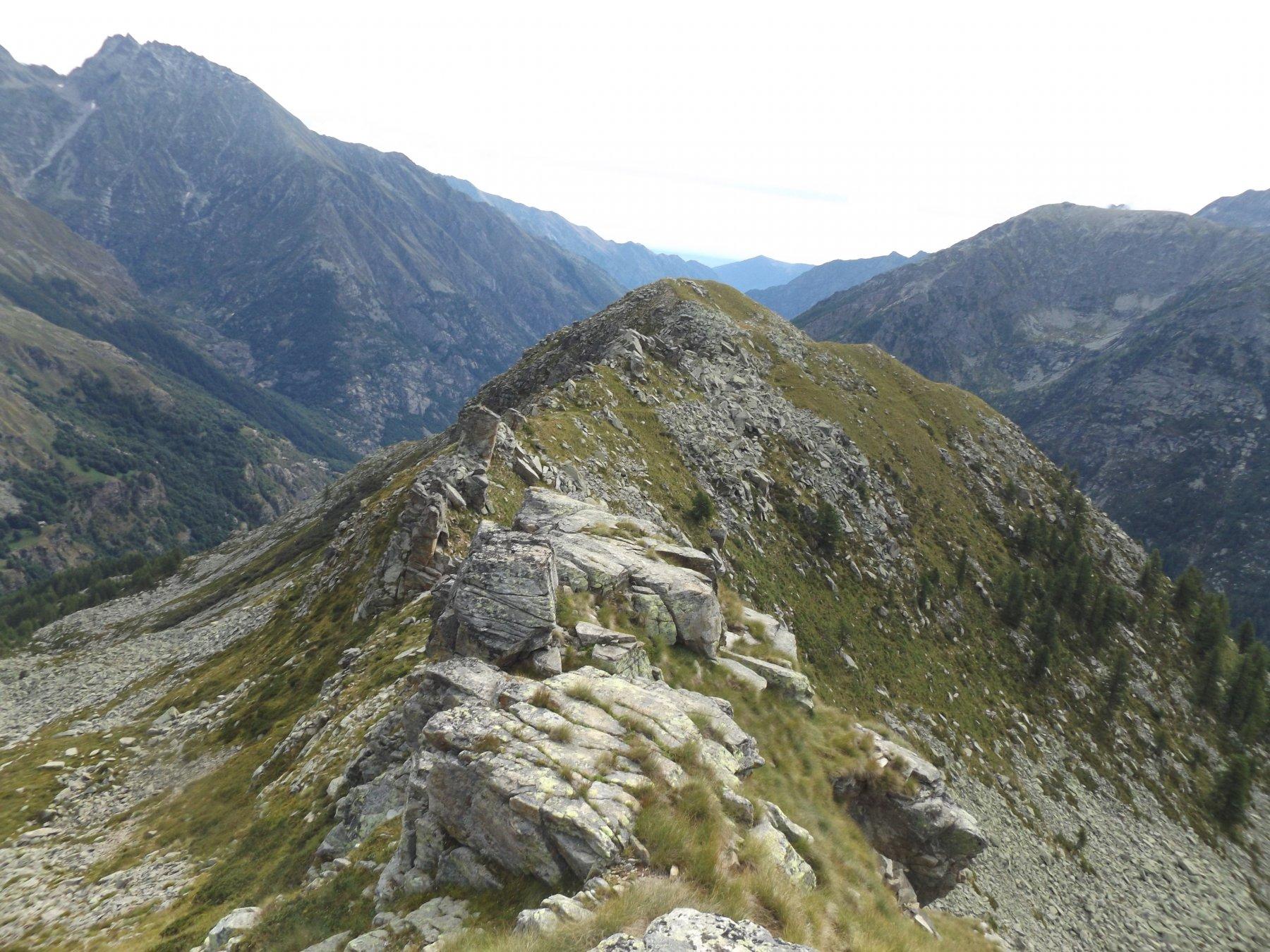 La cresta verso la Merola