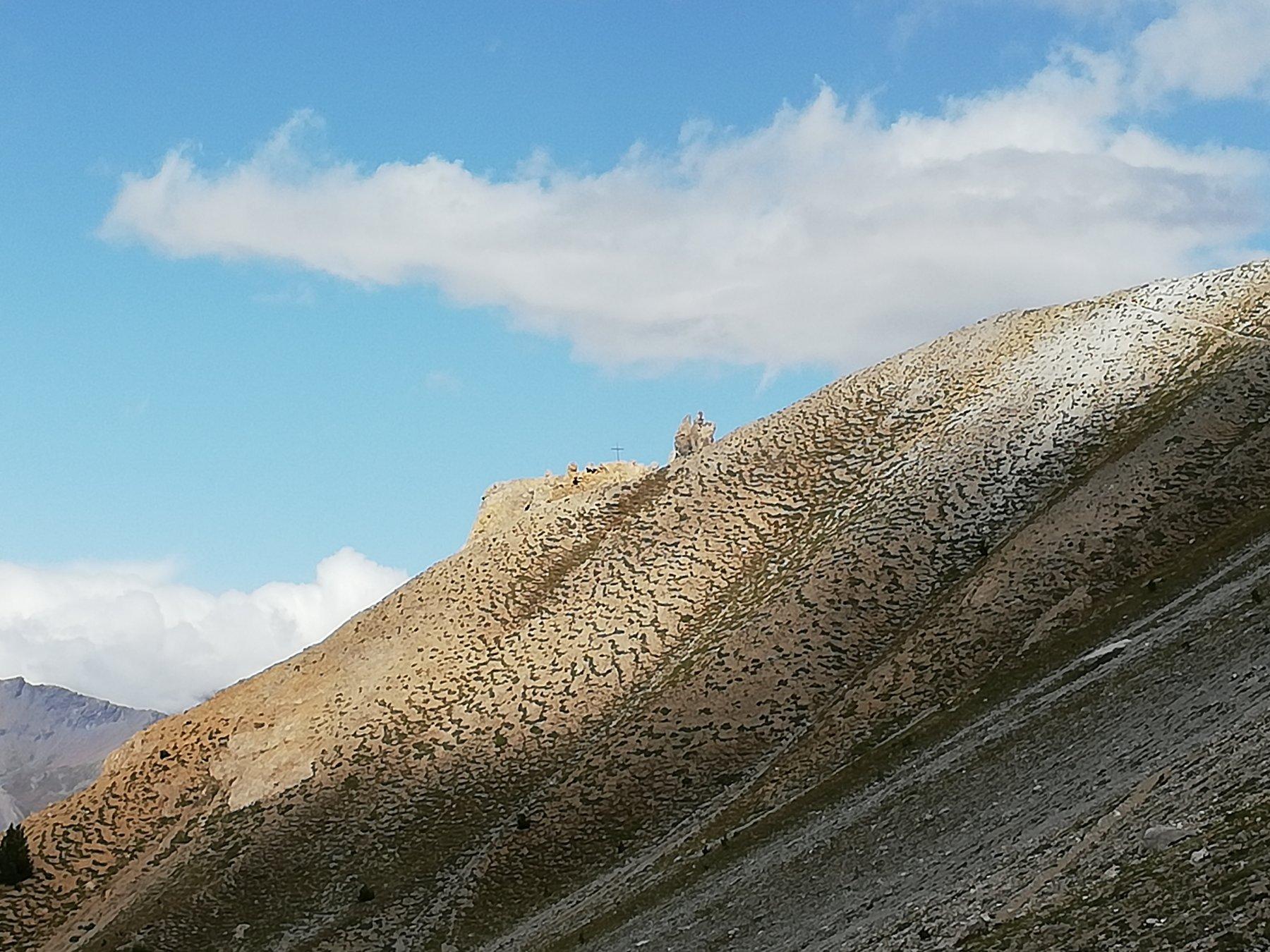 Dietro la cresta la Tour Jaune de Barabbas mt.2365