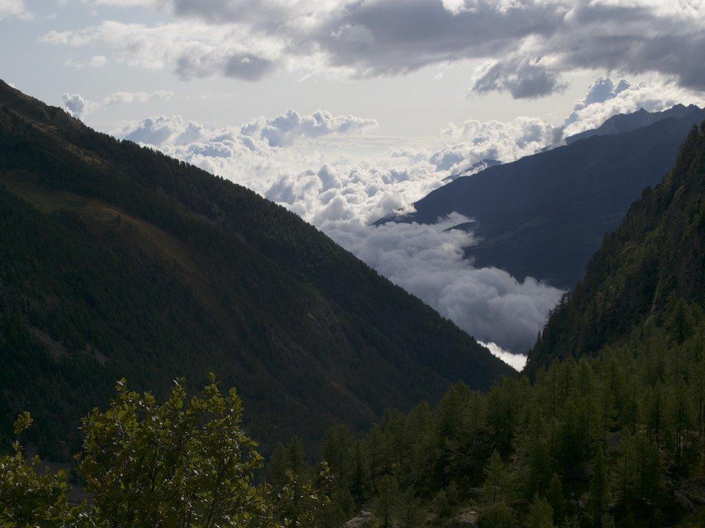 La valle di Susa sommersa dalle nuvole