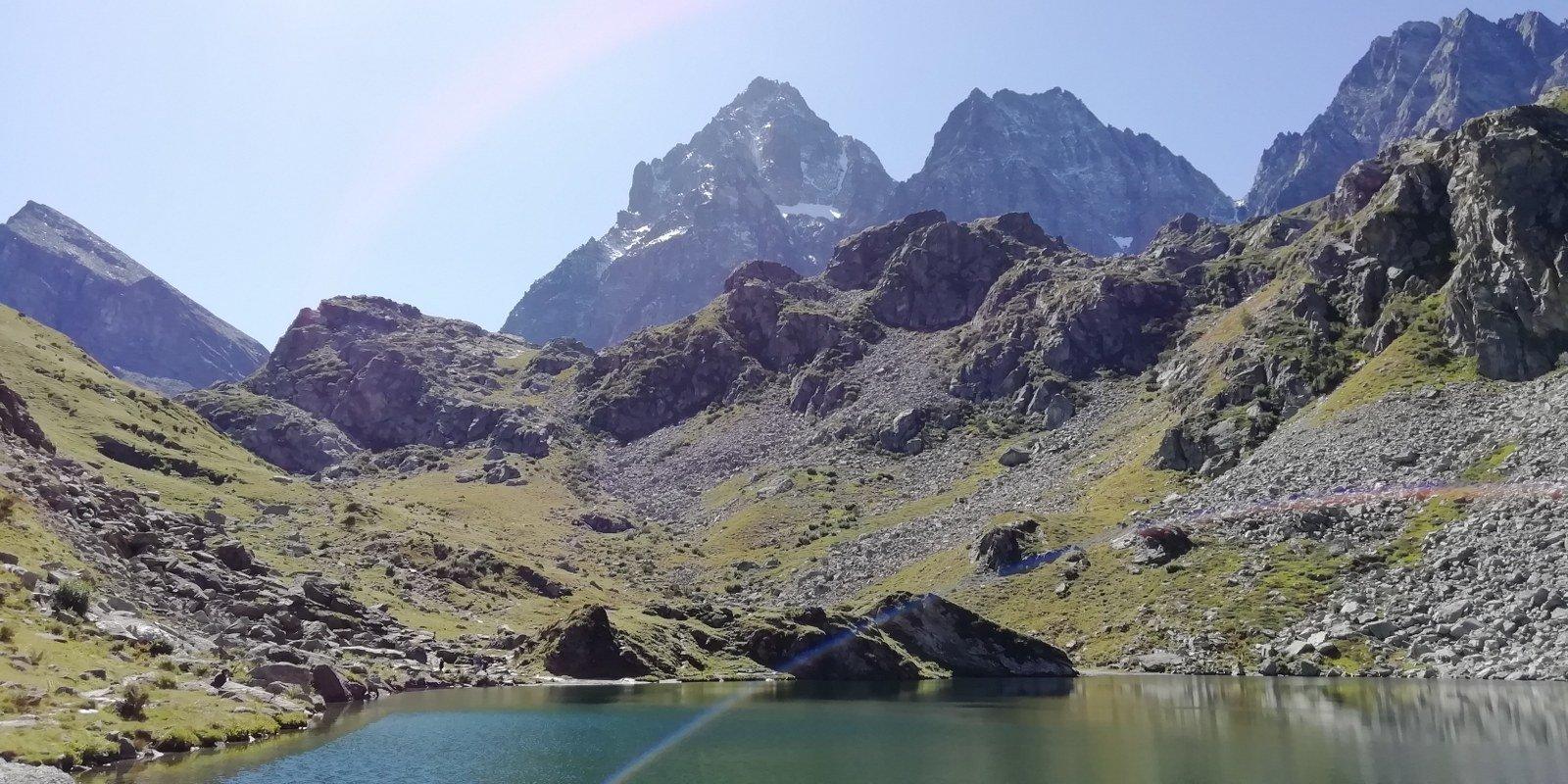 Lago Fiorenza e Monviso imbiancato