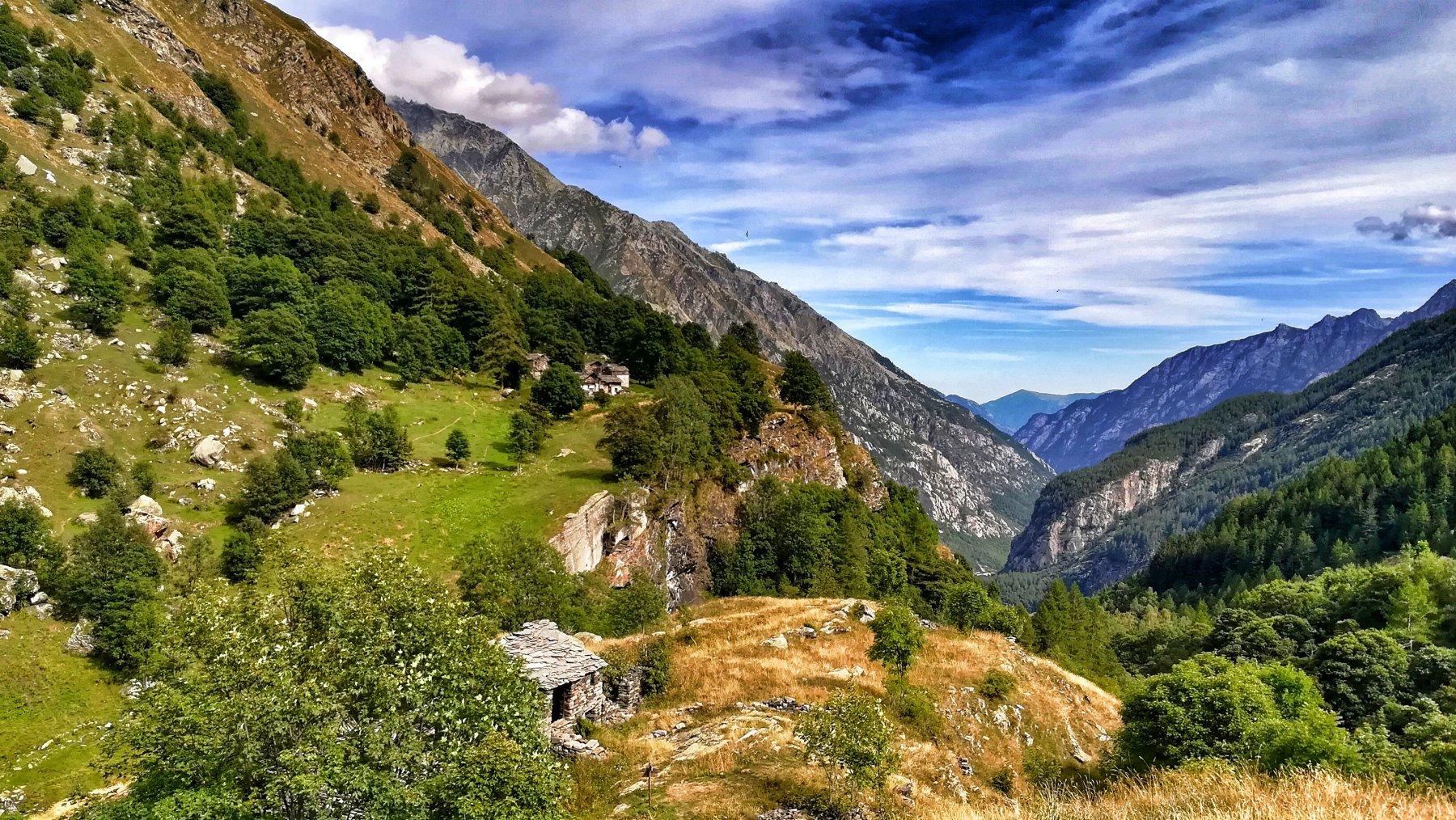 Vista verso valle dal Borgo Vecchio