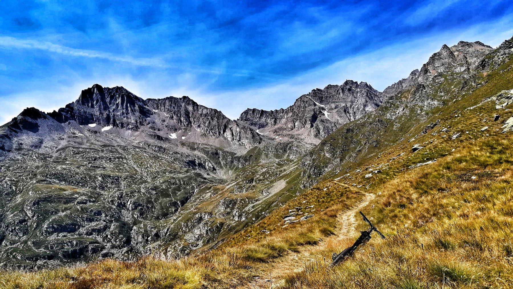 Magnifico traverso verso l'alpe Foges