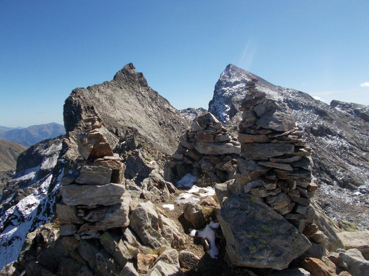la cima Peirabroc e il Monte Clapier