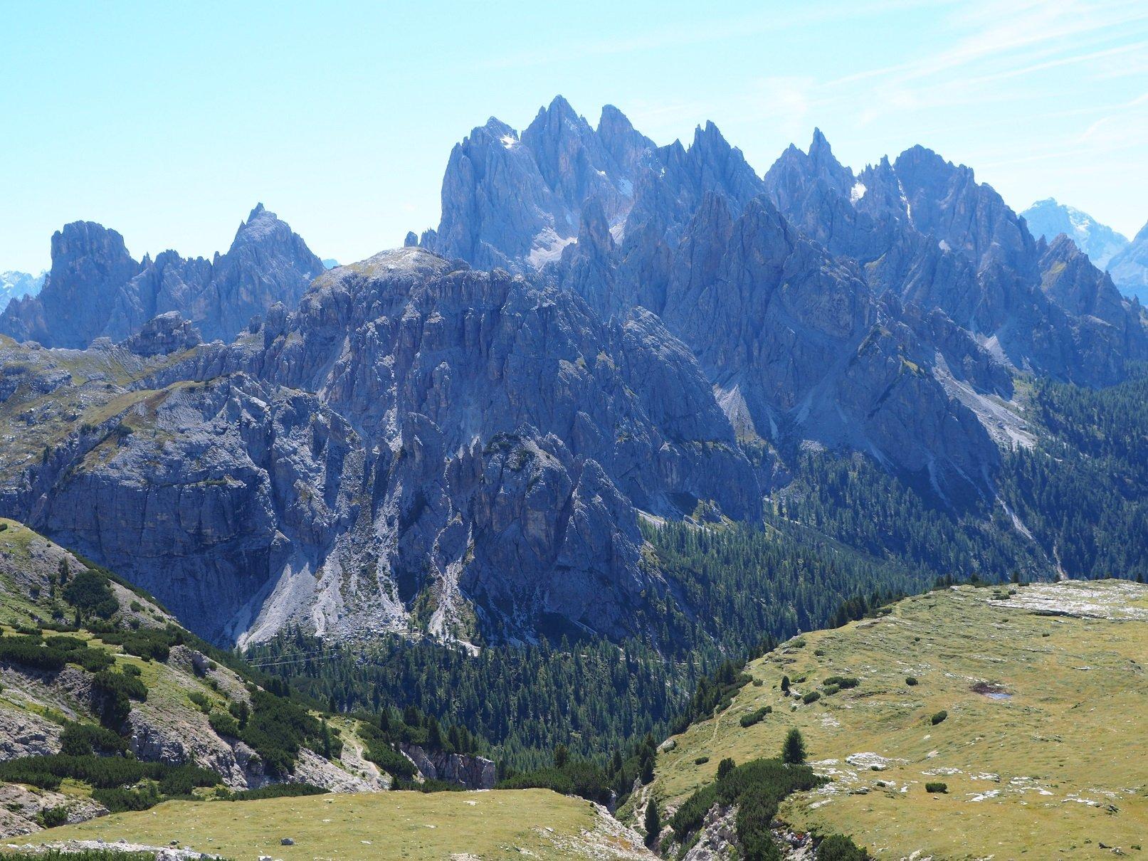 I Cadini di Misurina visti dai pressi del Rifugio Auronzo.