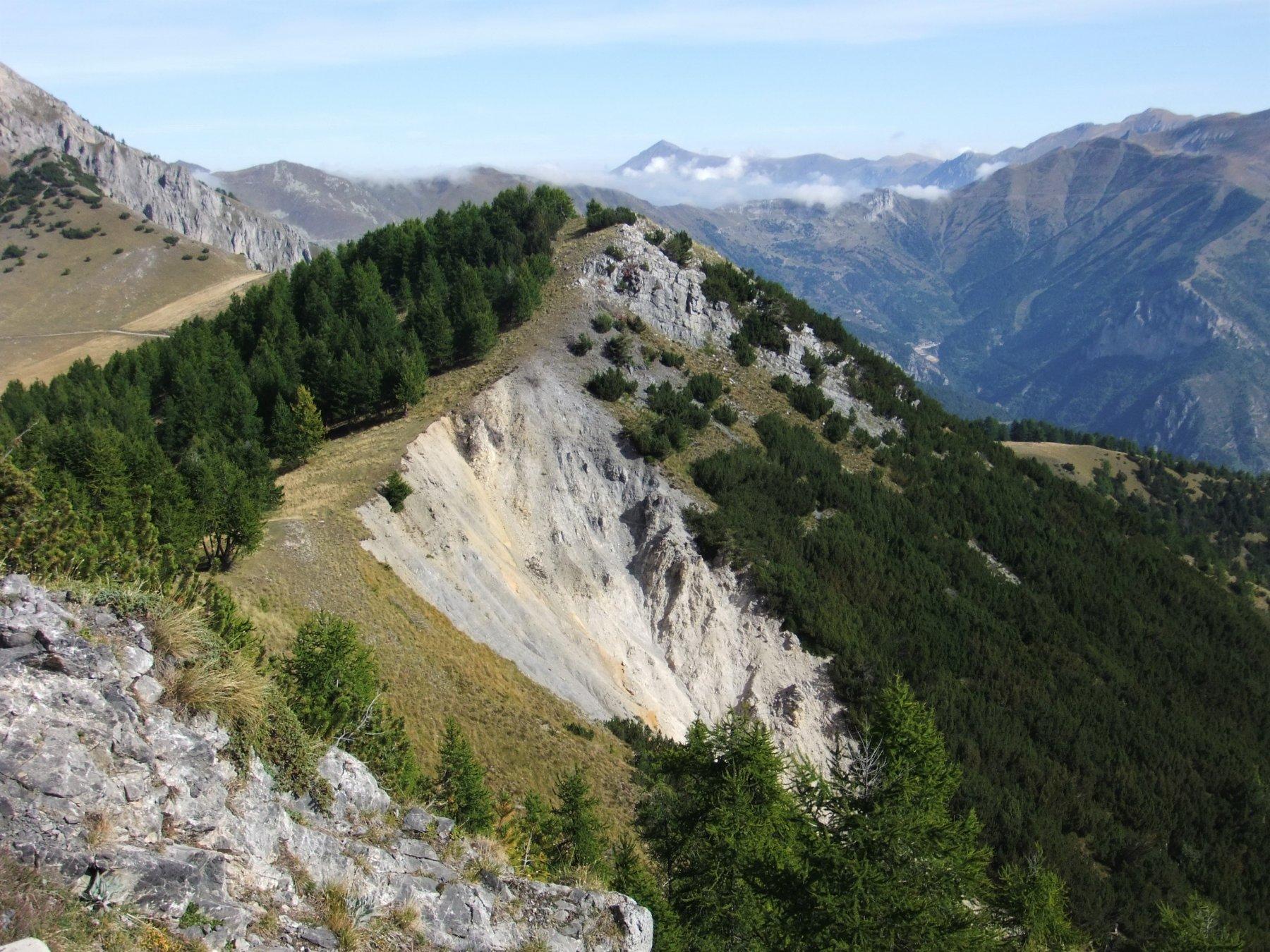 Ampia frana sulla pendici del Mont Ourne
