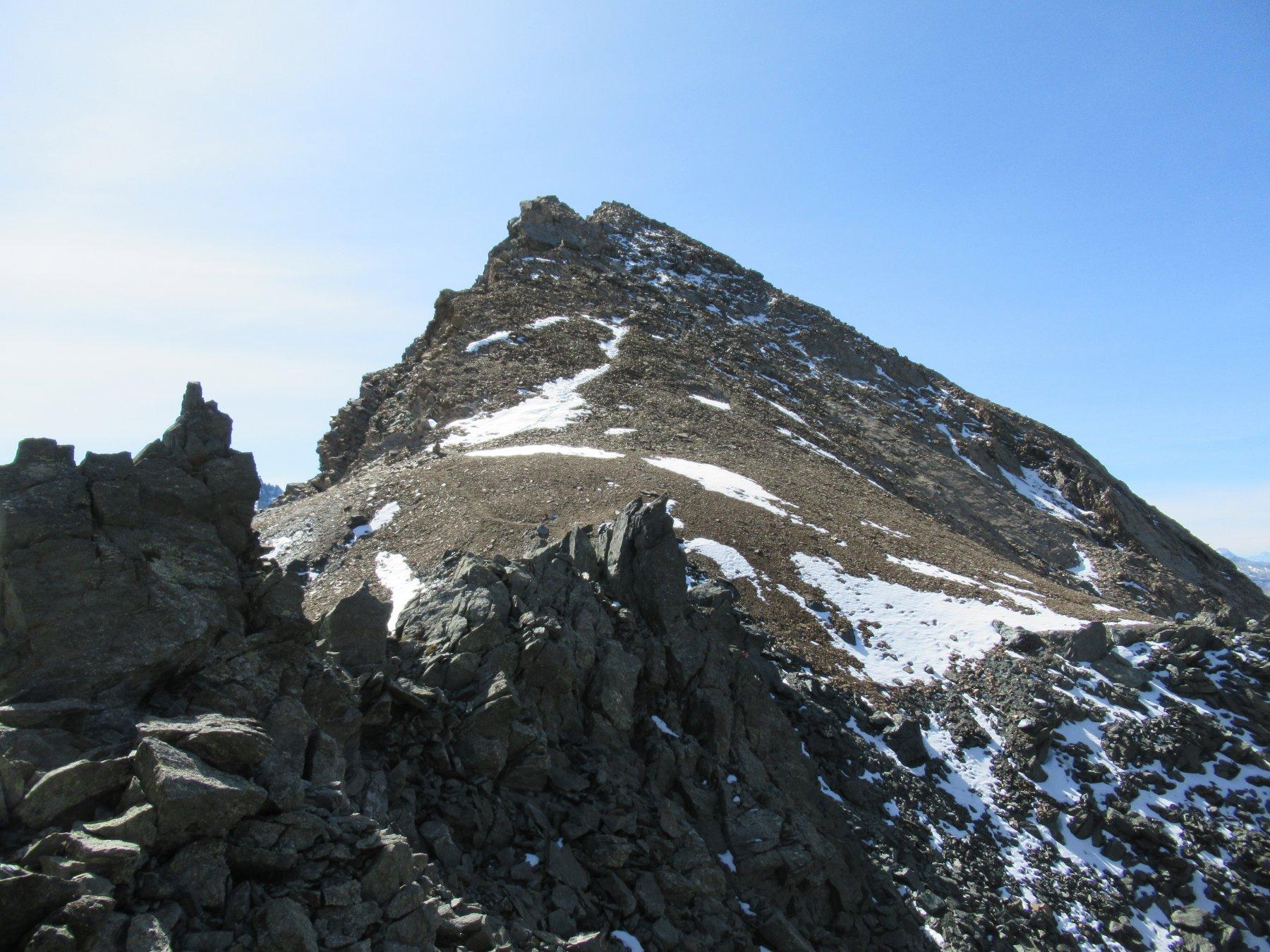 Punta del Tuf dalla cresta.
