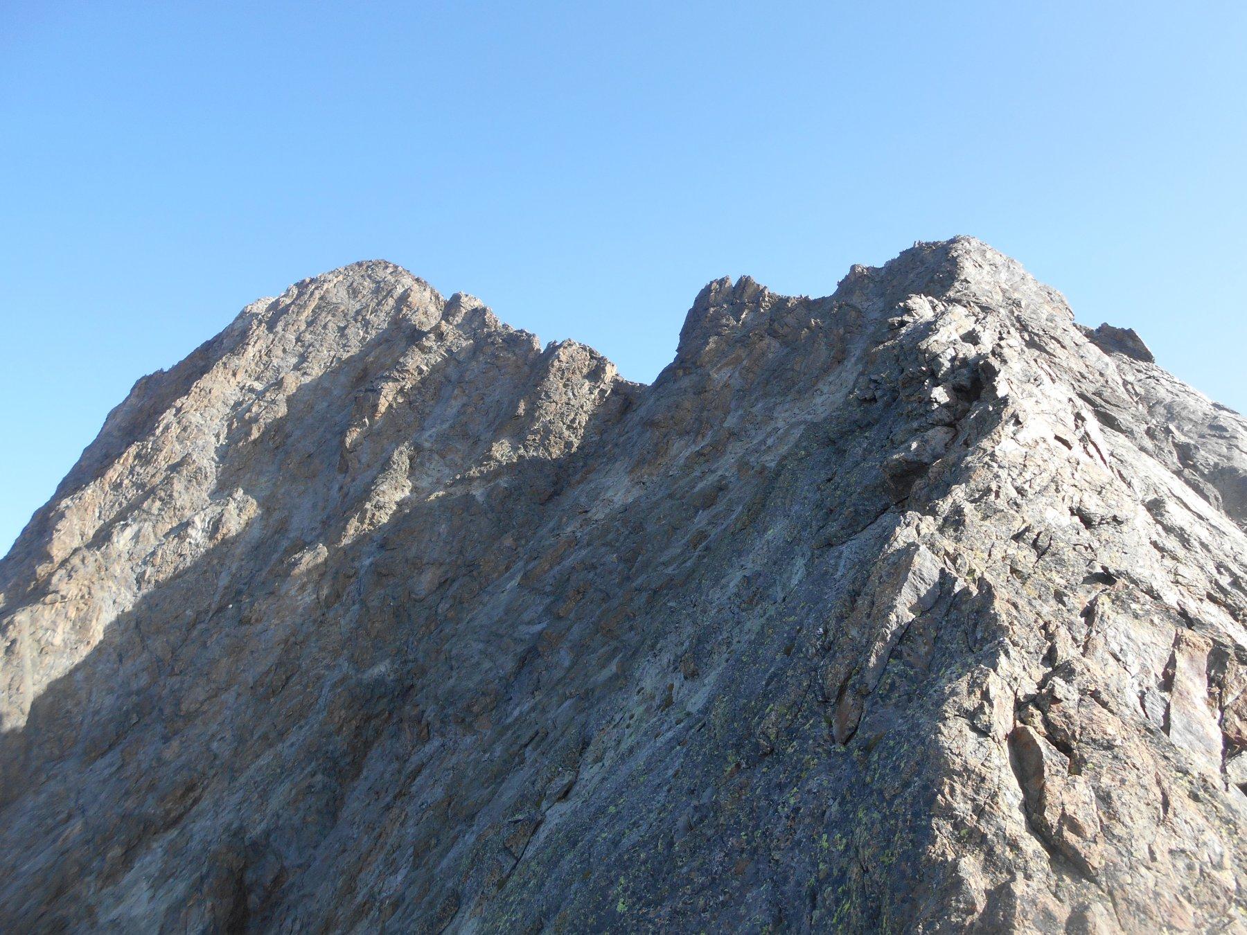 la cresta verso la Punta Genova