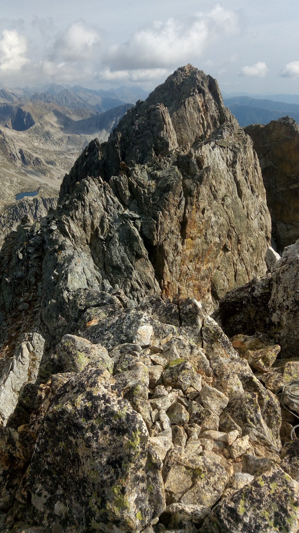 La cresta sommitale del Giegn