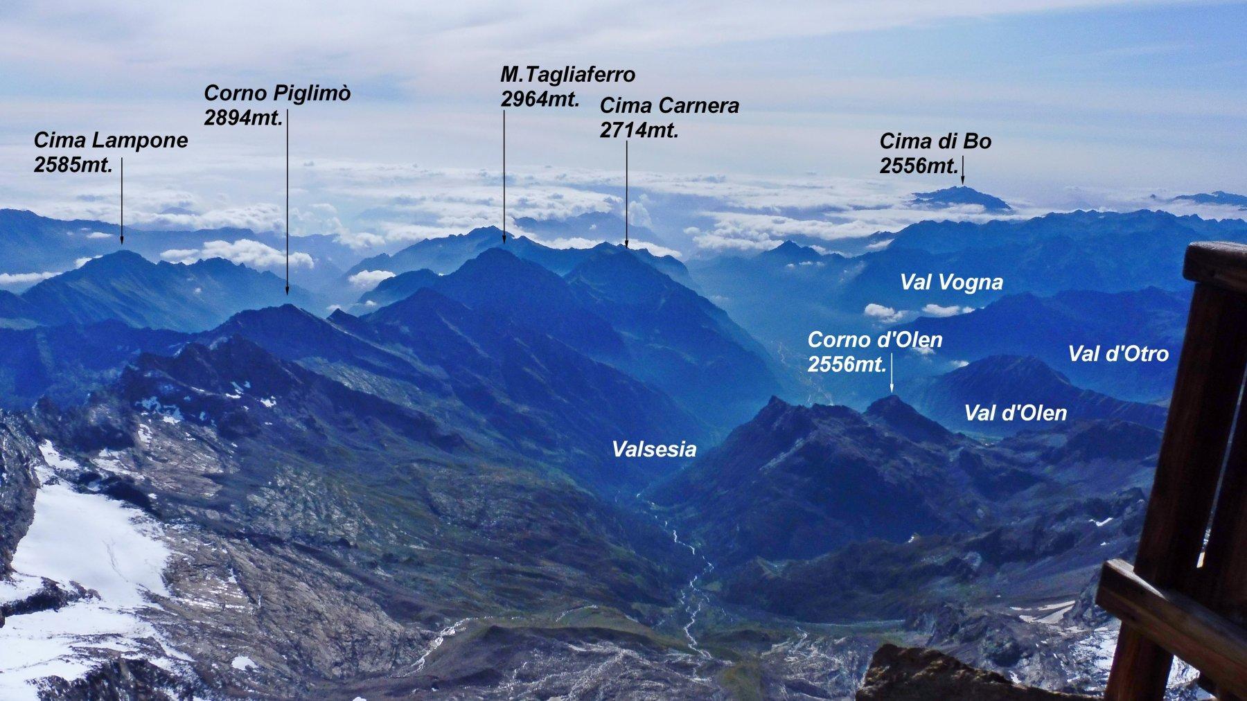 Impressionante il salto di oltre 2000mt. sulla Valsesia