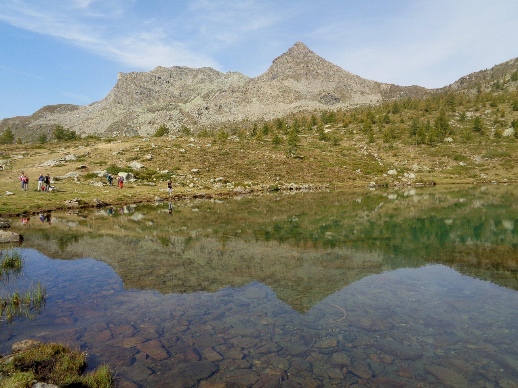 Tete de l'Hommes rispecchiata nel Lago Muffe'