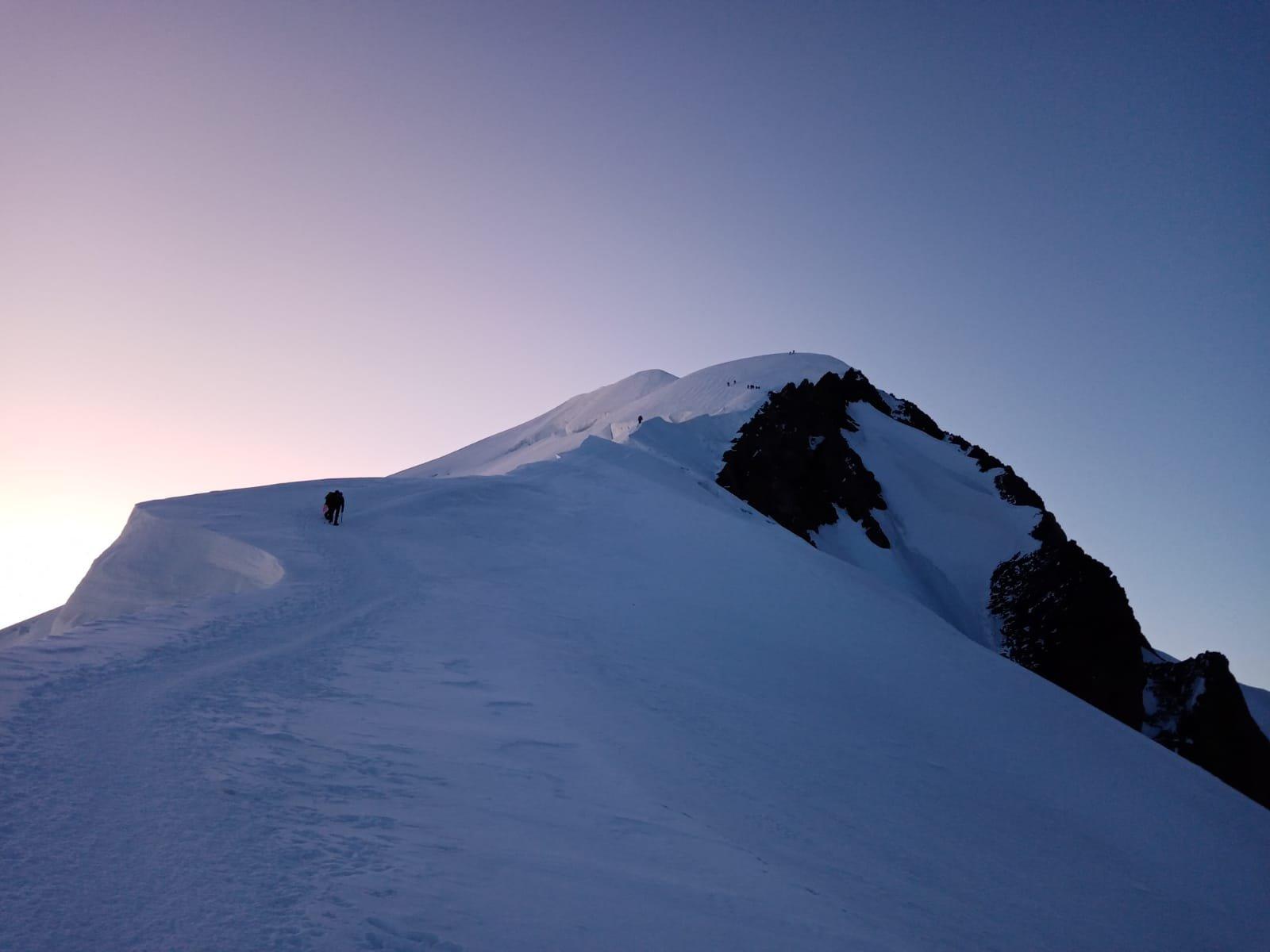 cresta delle Bosses a circa 4600 mt