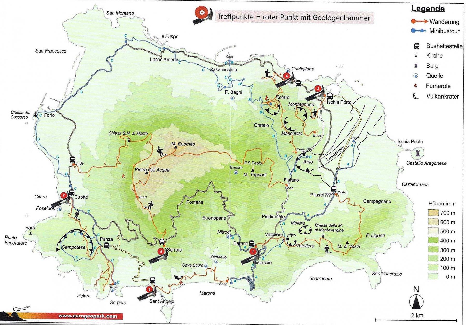 Carta itinerari in tedesco