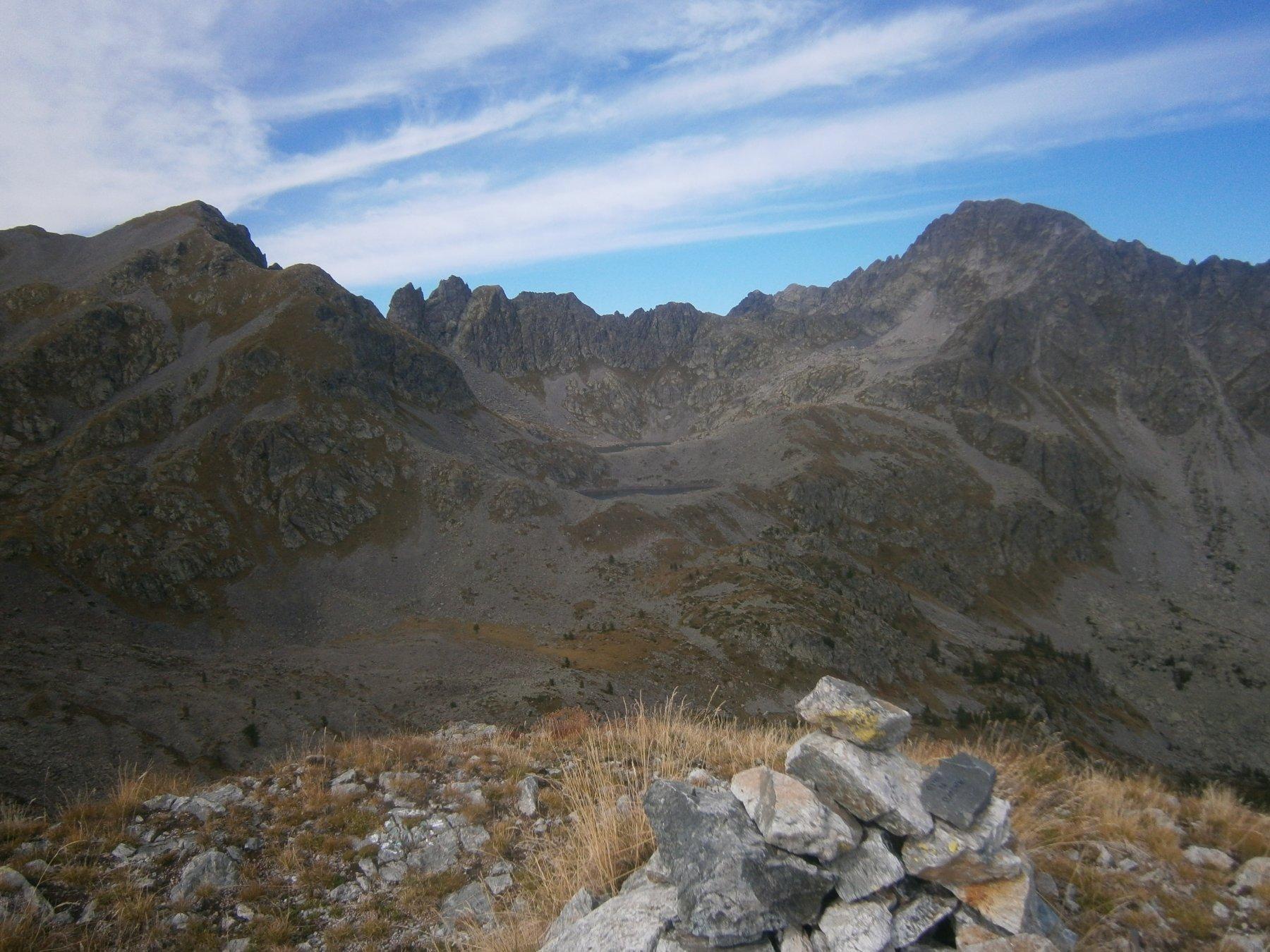 Punta di Peraficà e rocca d'Abisso dalla Barchenzane