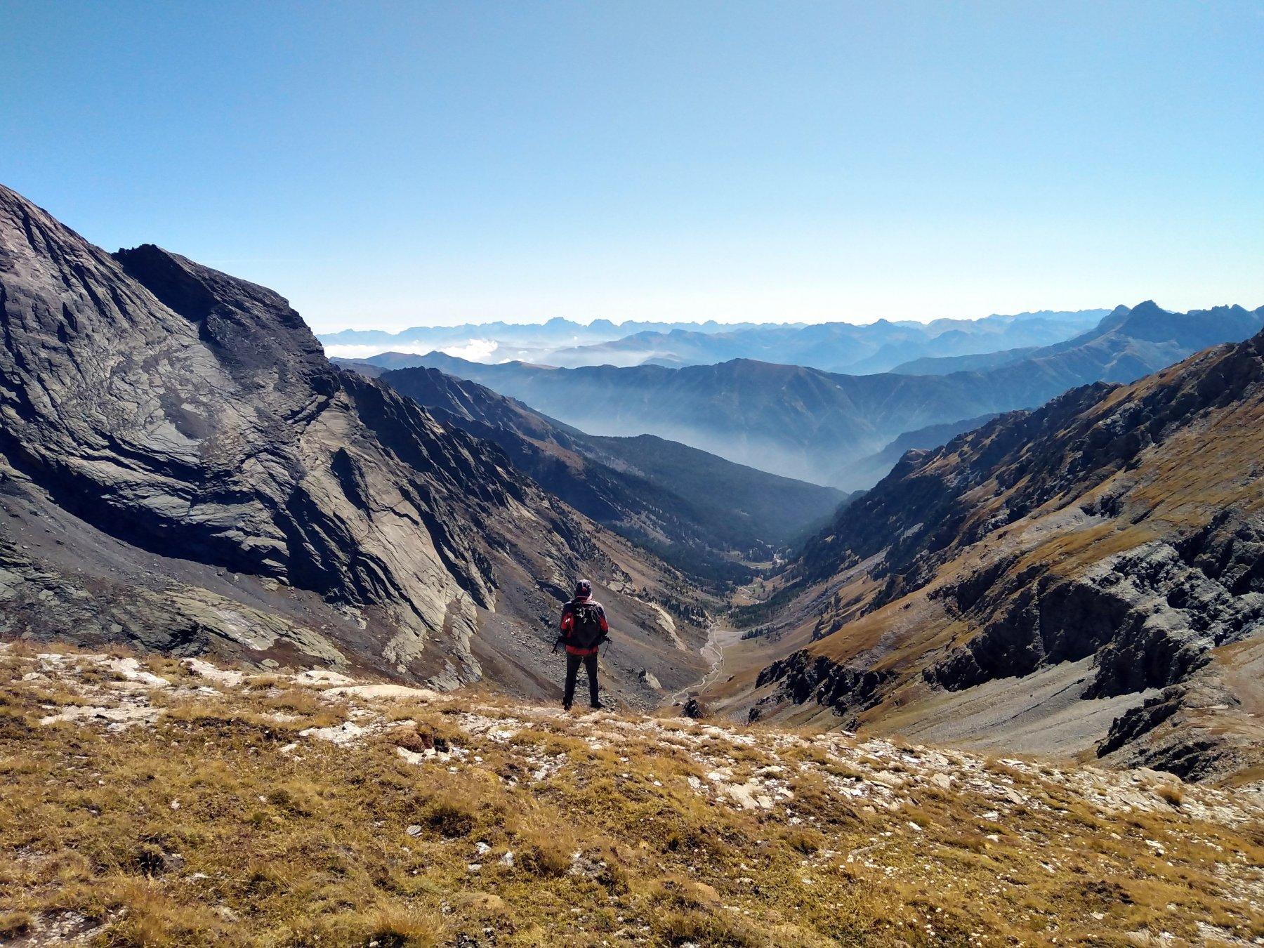 splendida vista sul vallone di Vallanta
